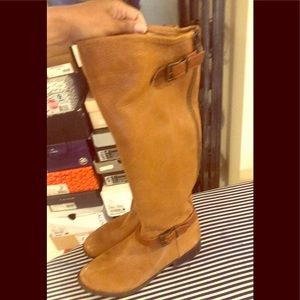 Women's riding boots leather
